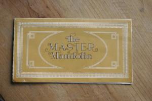 1923 Gibson F5 Master Mandolin Pamphlet